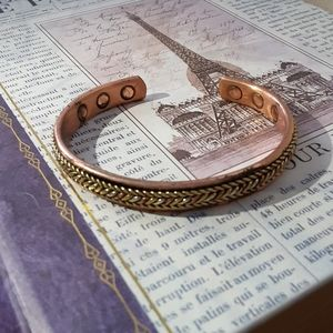 Jewelry - RARE Solid Copper Magnetic Bracelet, Gold Fishtail